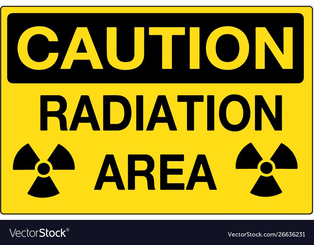 Radiation area caution sign eps10