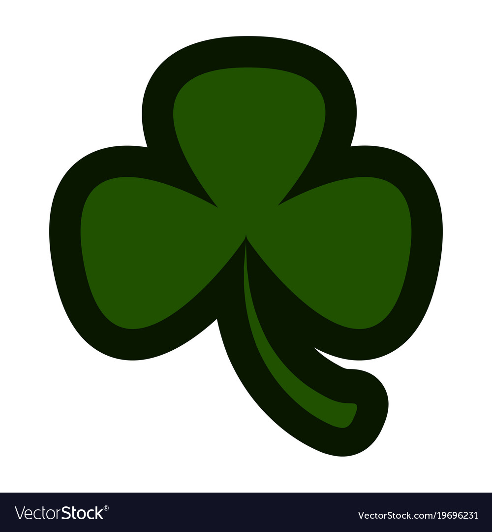Three Leaf Clover Icon Royalty Free Vector Image