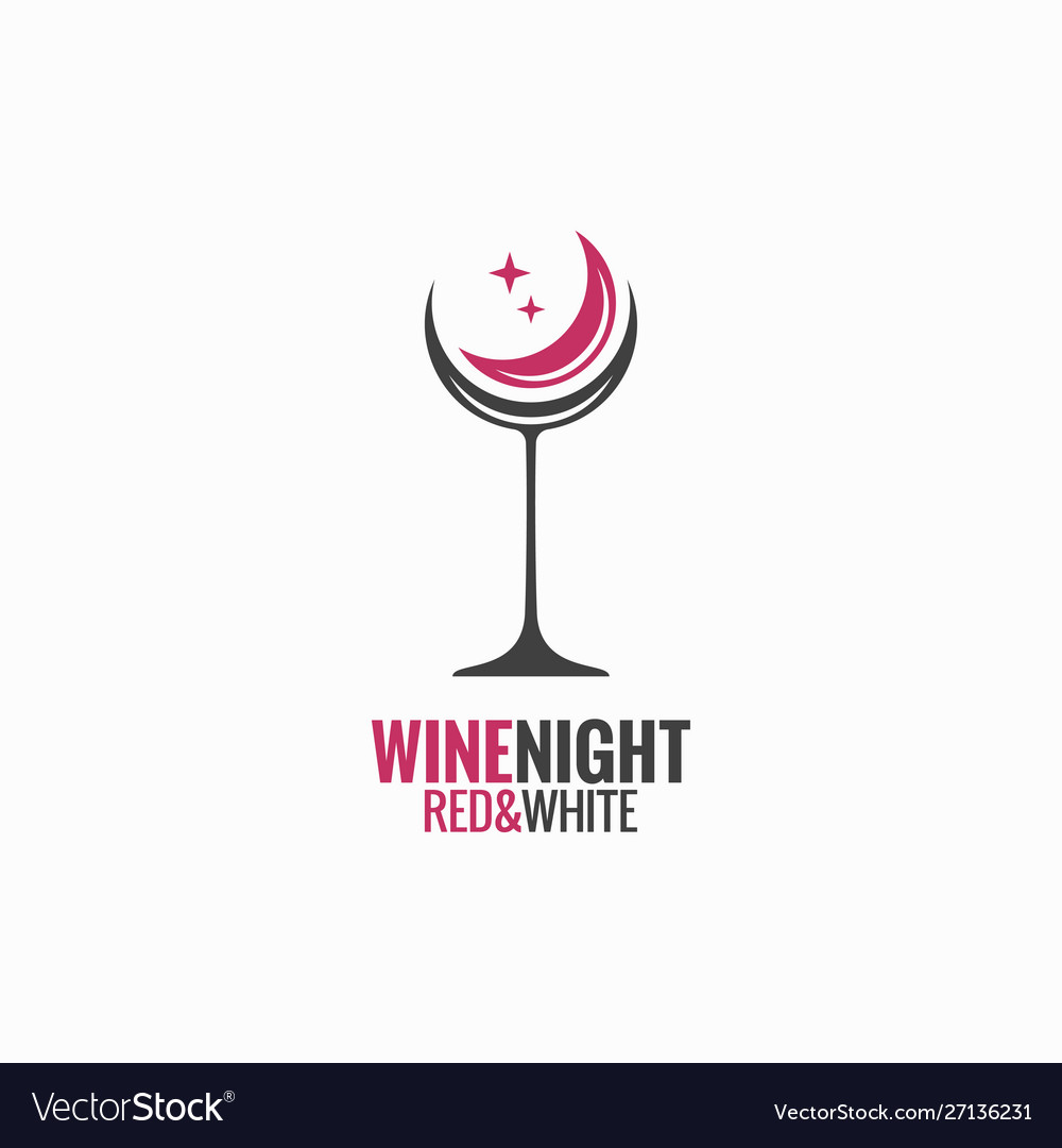Wine glass concept wine night moon design