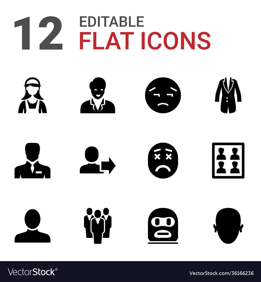 12 avatar icons