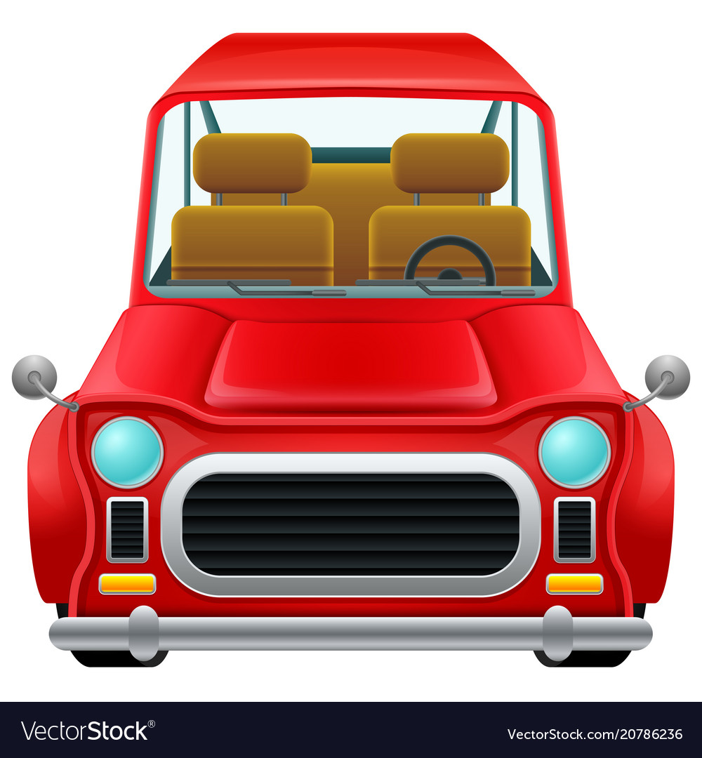 A Front View A Classic Car Royalty Free Vector Image