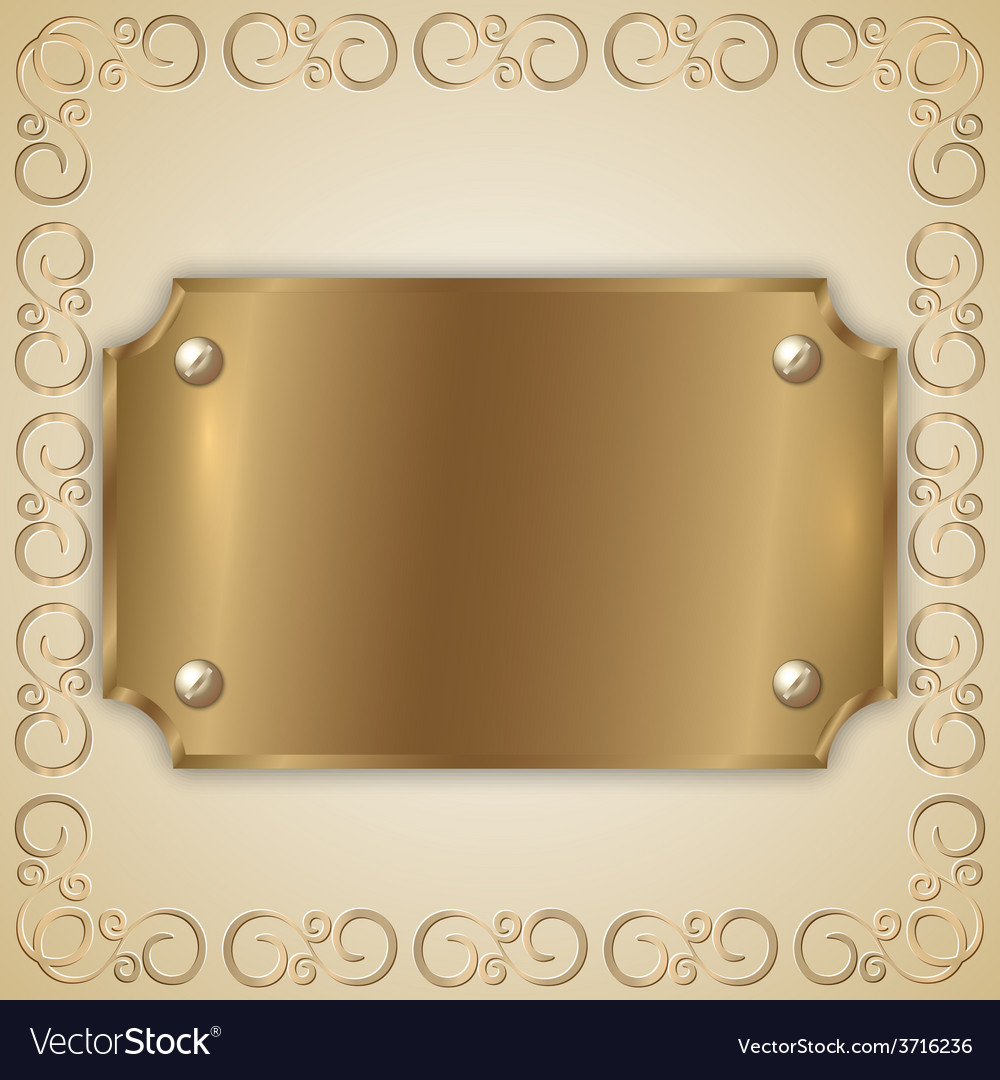 Abstract precious metal golden award plate