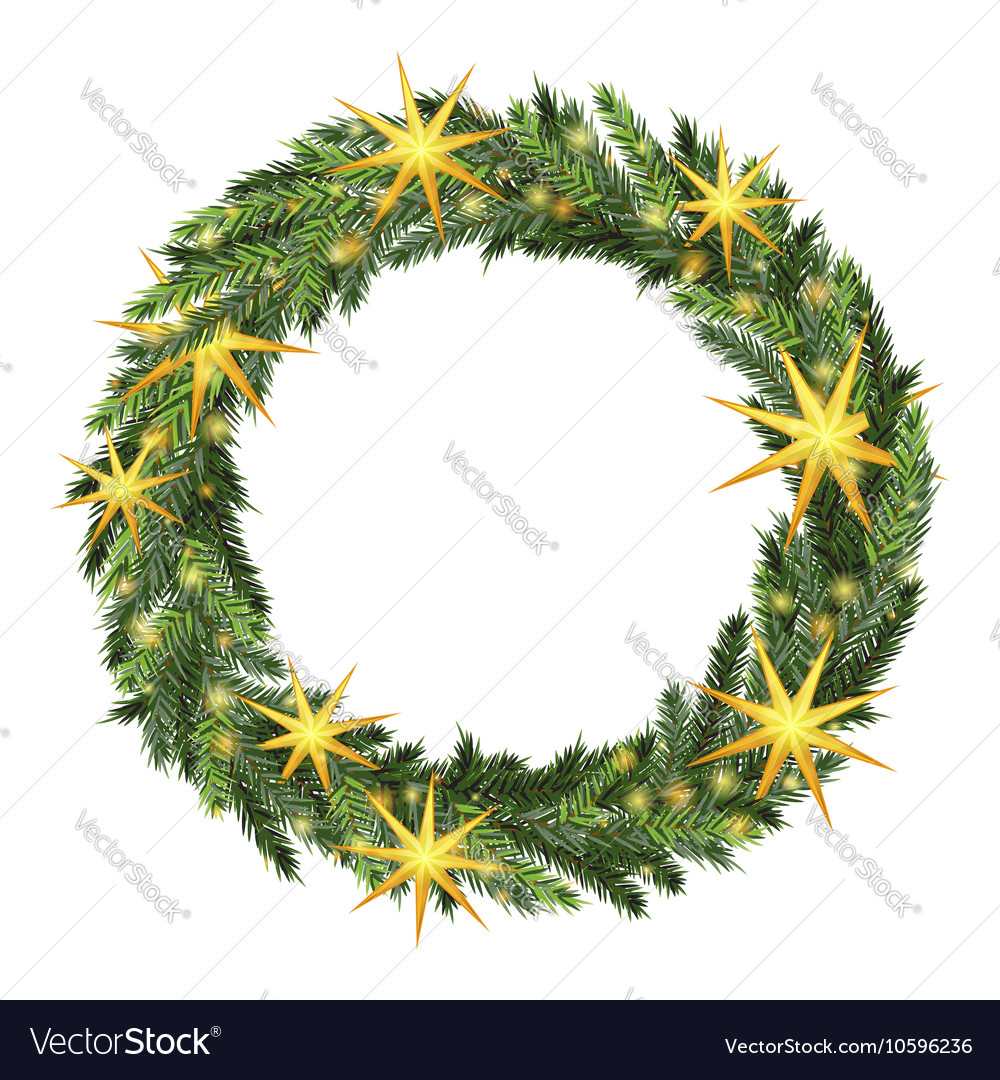christmas wreath template royalty free vector image