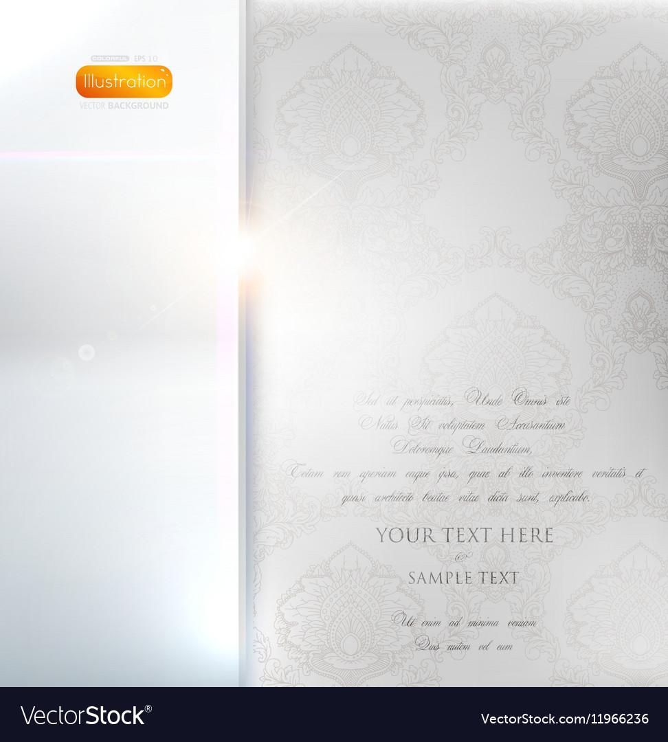 Classical White Floral Invitation