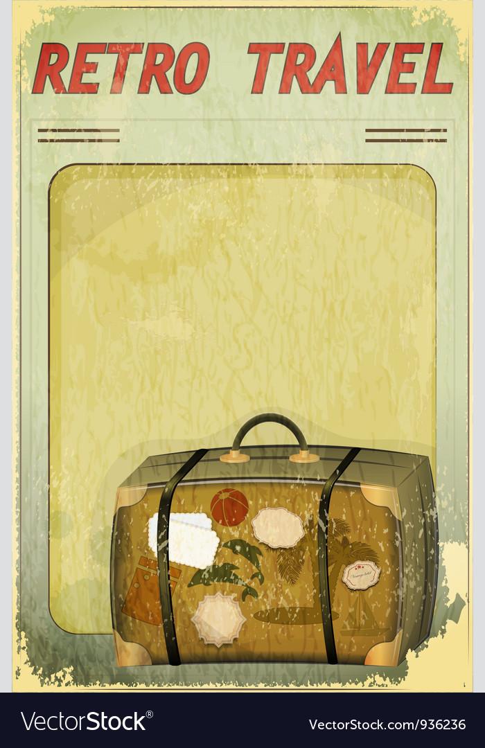 Old suitcase on grunge background