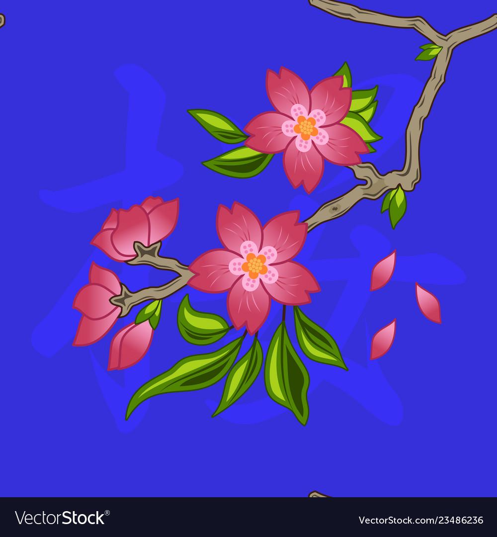 Pattern 0108 oriental cherry sakura