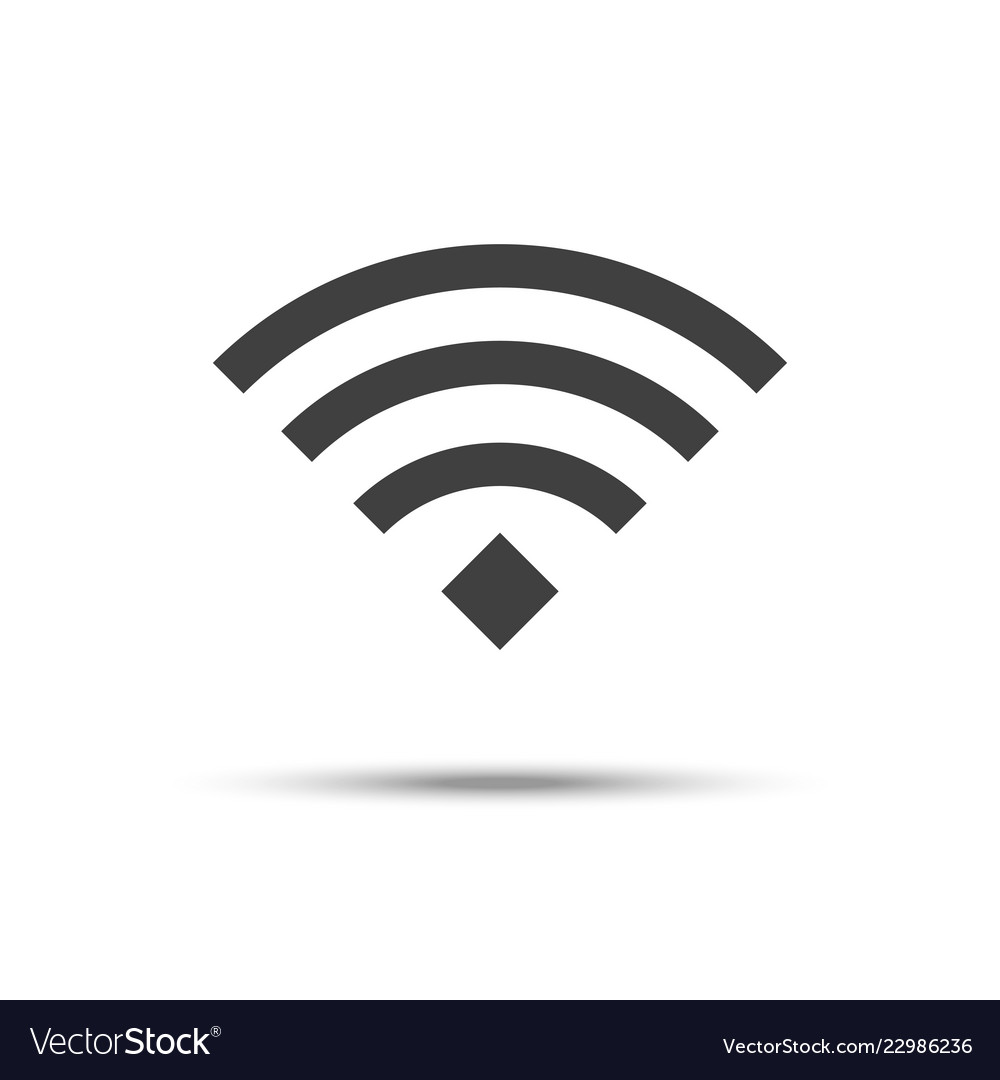 Wifi icon wireless network symbol isolated