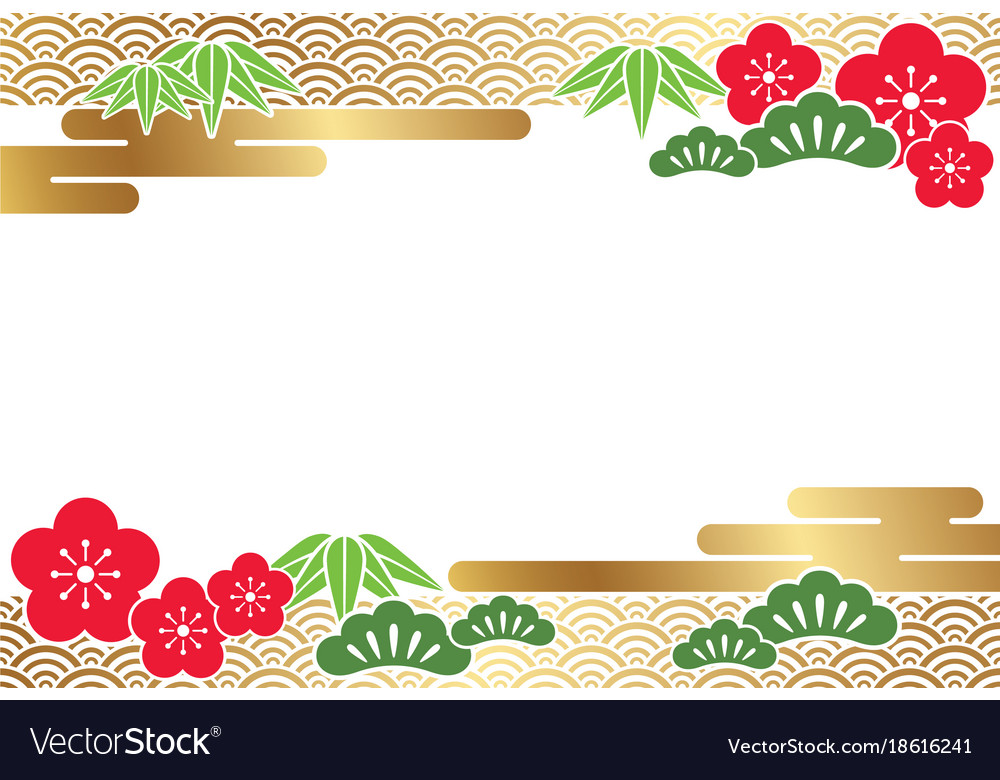 a japanese new year card template vector image