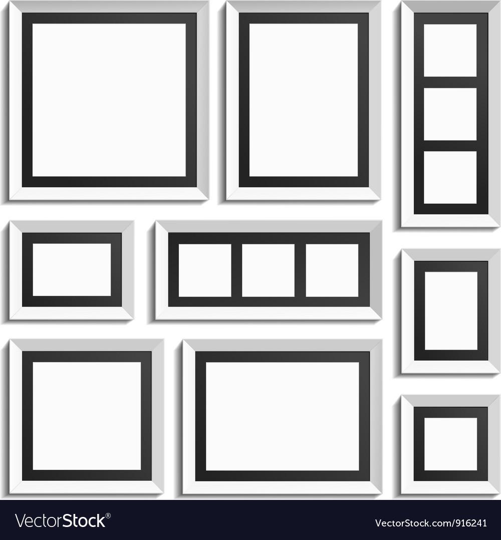 Empty modern frames Royalty Free Vector Image - VectorStock