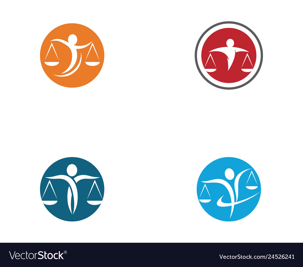 Lawyer logo template icon