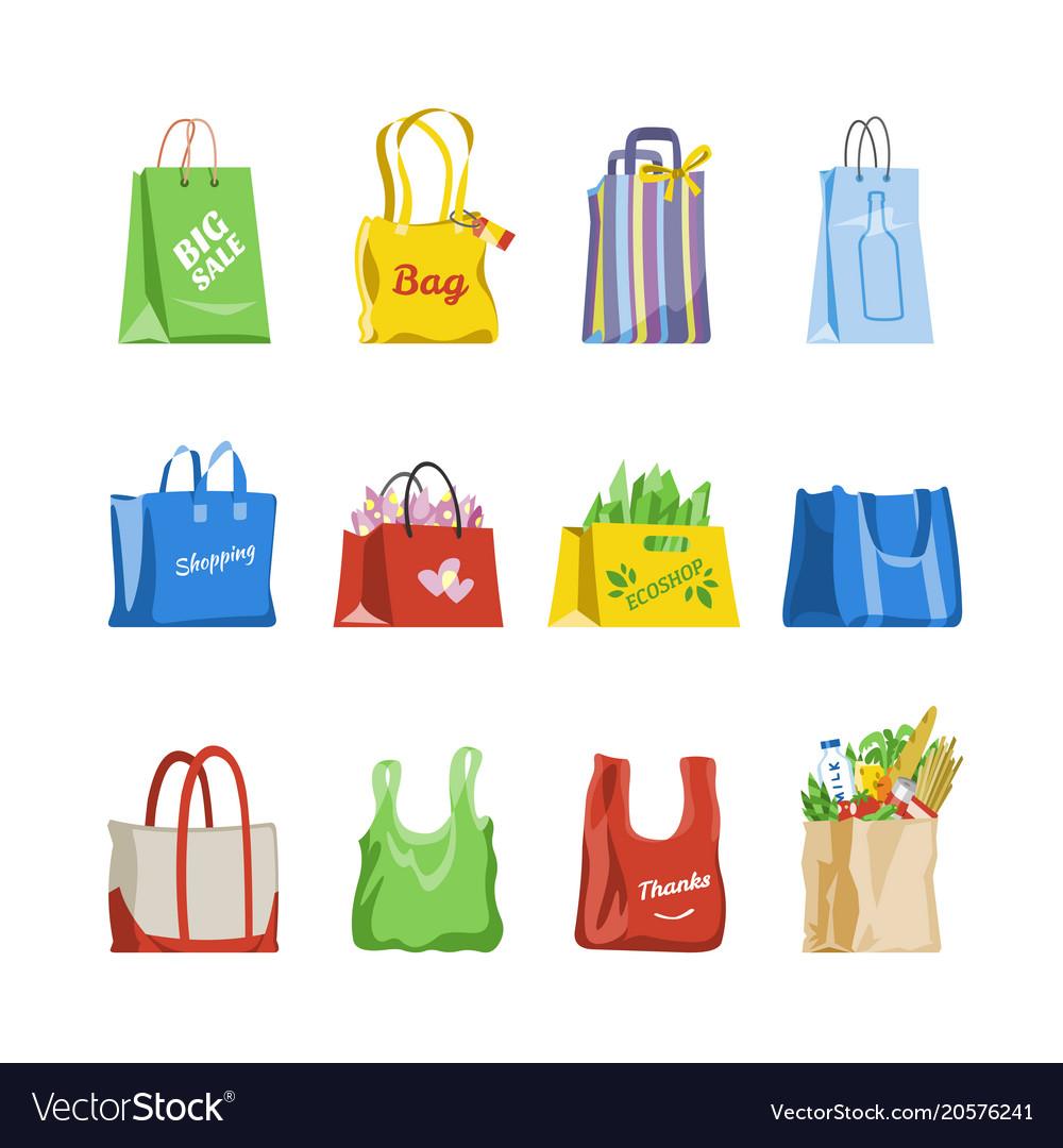 Shopping bag shop paper-bag and baggy Royalty Free Vector 41508facba