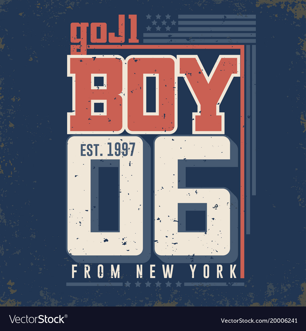T-shirt graphics - boy from new york city