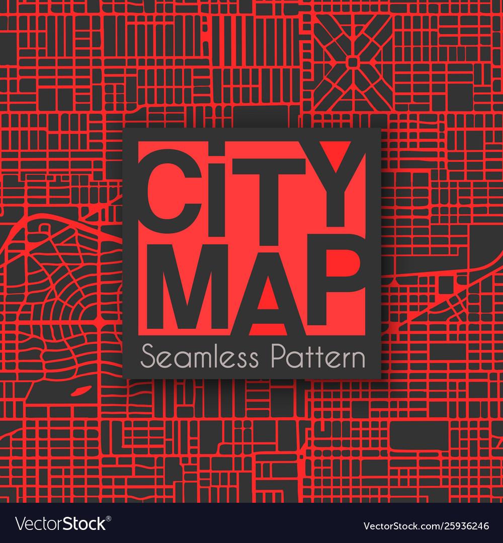 Abstract seamless city plan