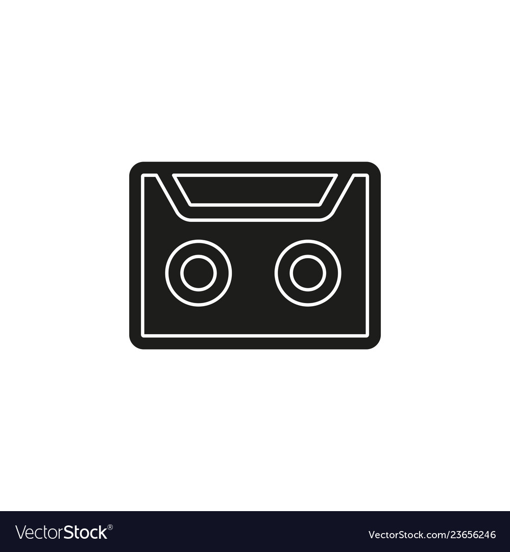Cassette tape - retro old music media - vintage