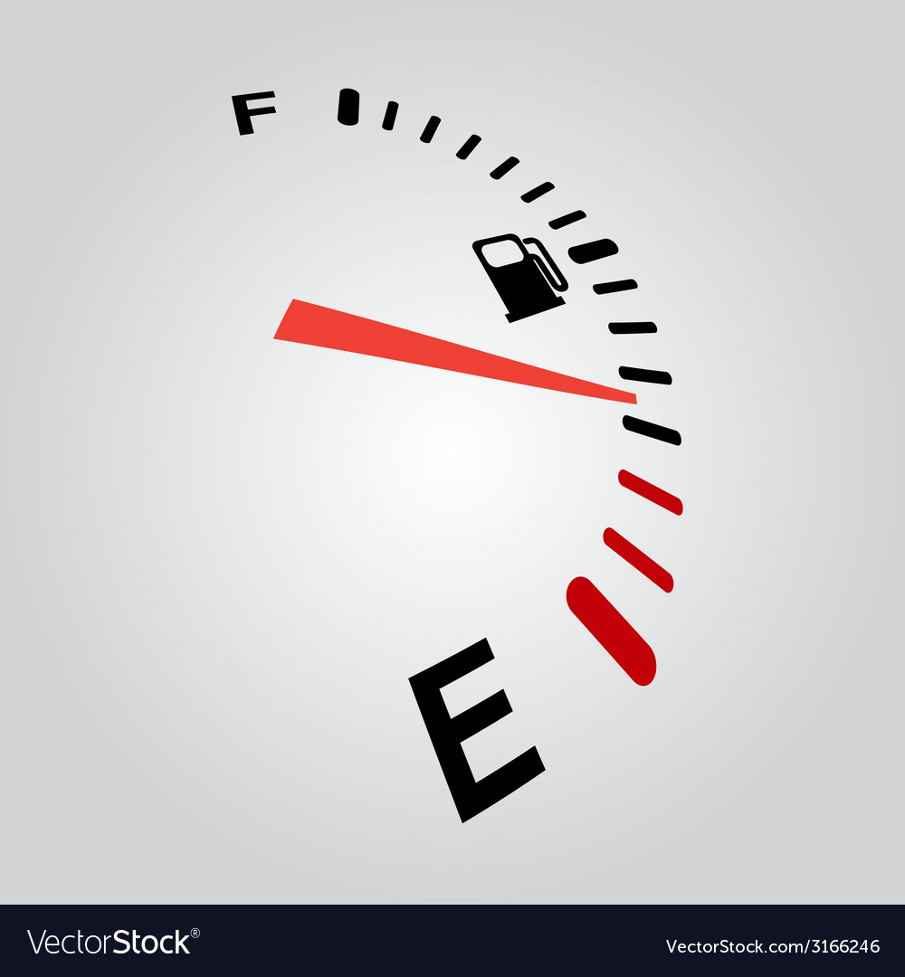 Fuel indication perspective vector image
