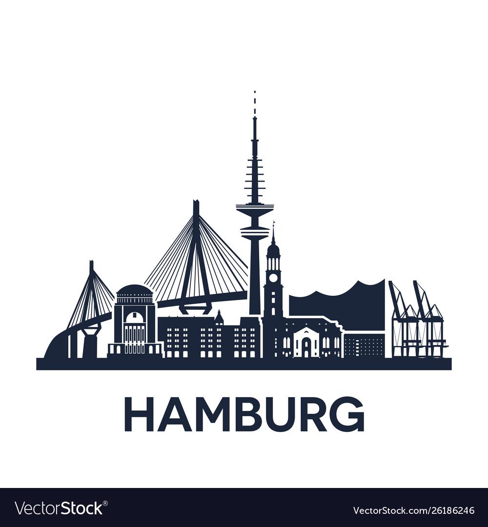 Hamburg city skyline germany extended version