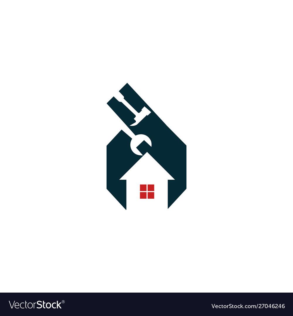 Home Repair Service Creative Business Logo Vector Image