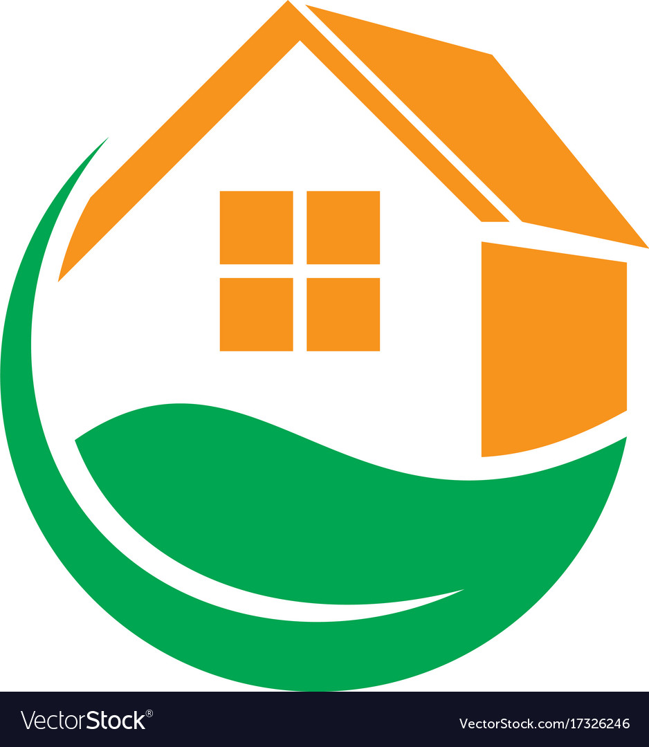 Leaf home eco business logo