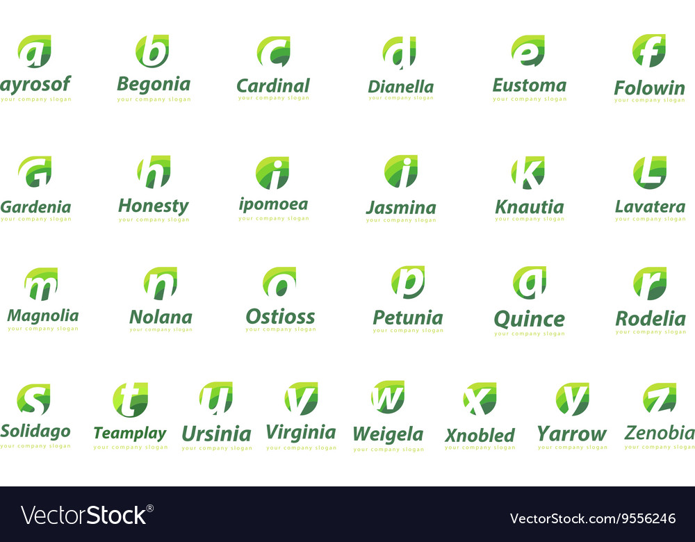 Logo collection letters Template for your company vector image