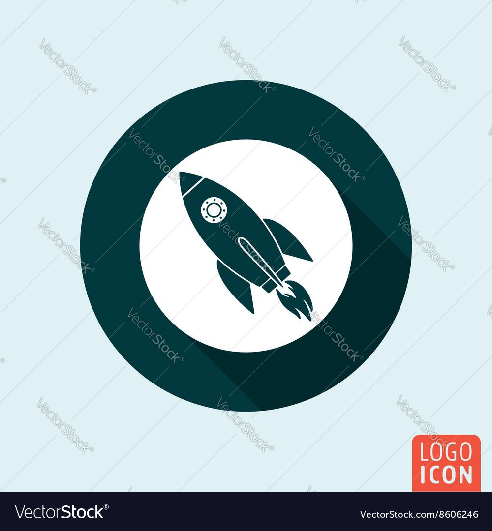 Rocket icon isolated