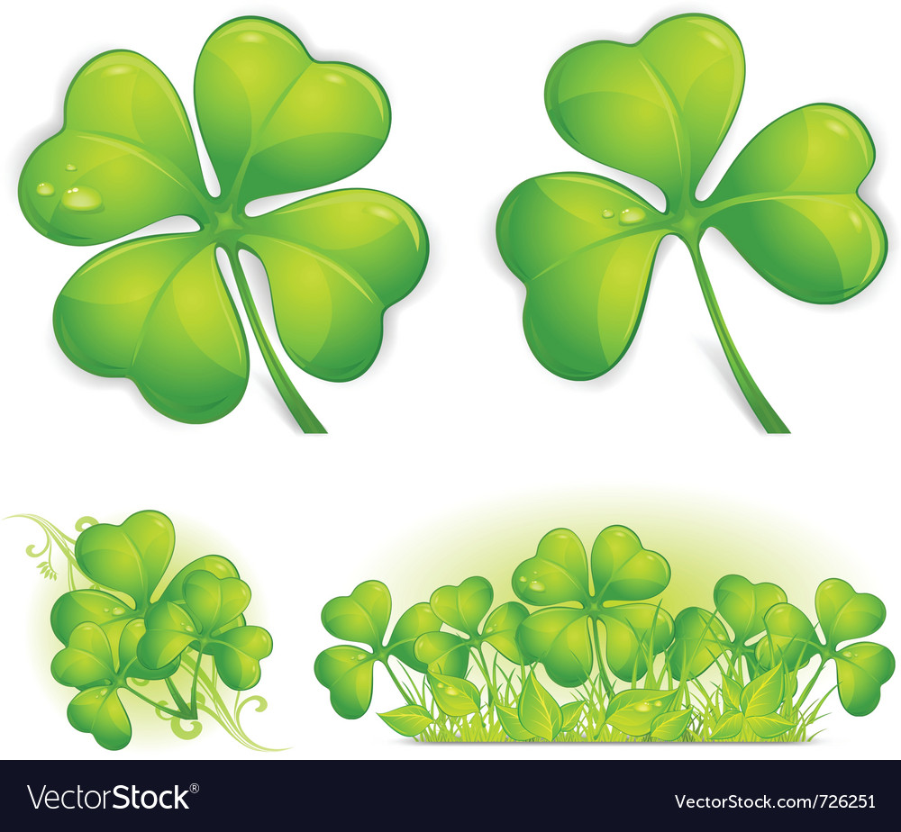four leaf clover royalty free vector image vectorstock rh vectorstock com four leaf clover vector art four-leaf clover vector free download