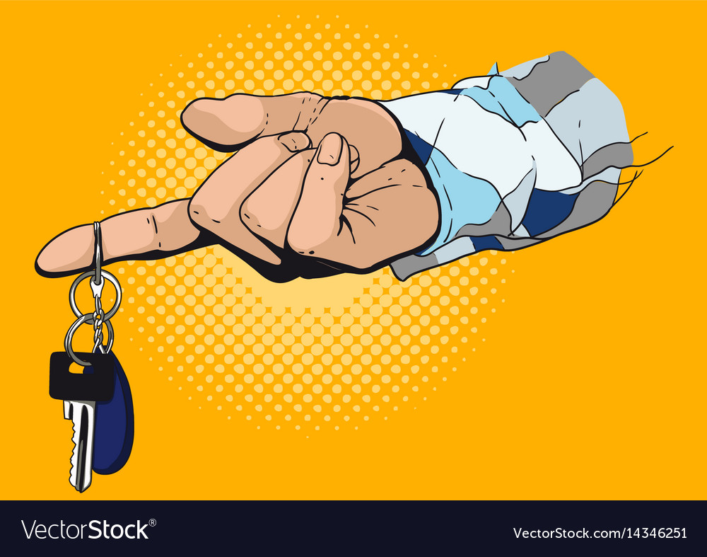 Hand giving the key