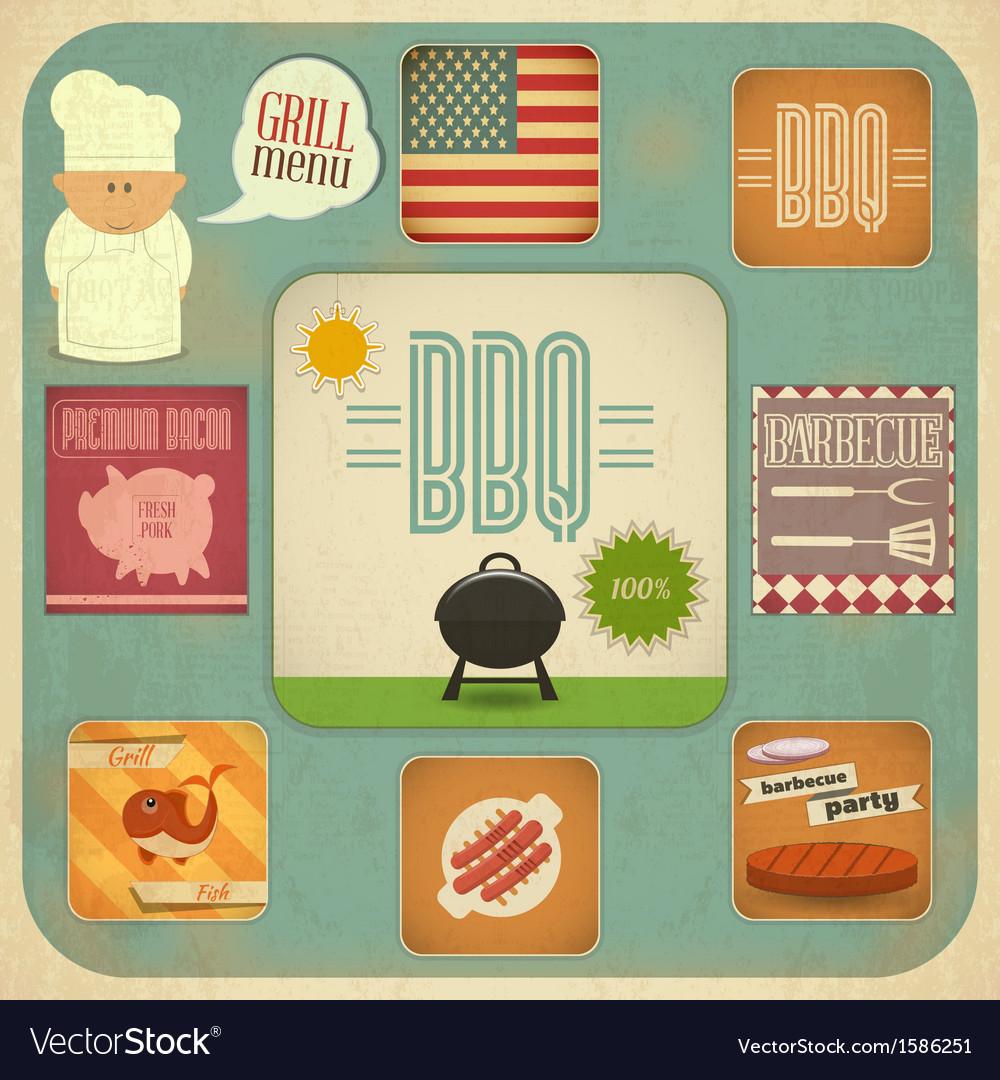Menu BBQ vector image