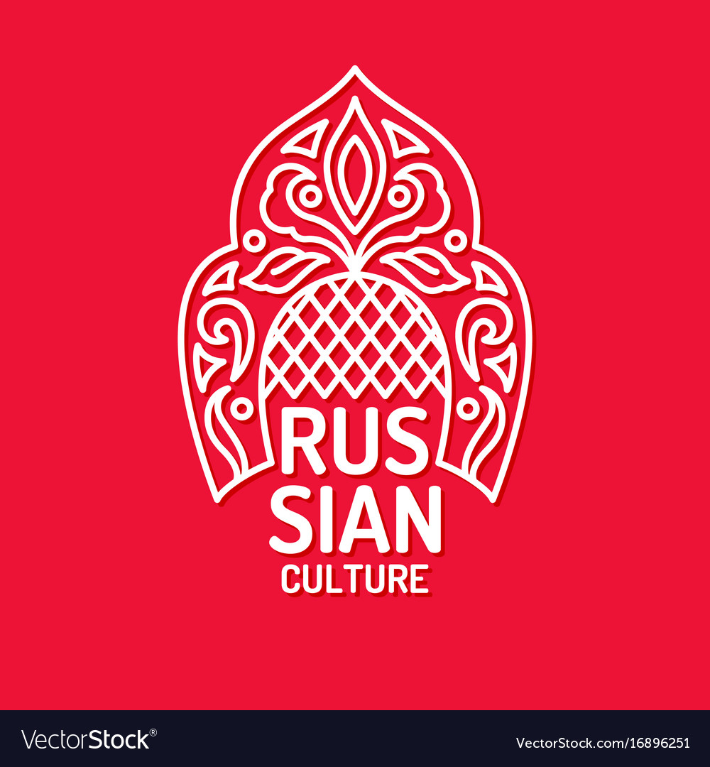 Poster of russian culture isolated images
