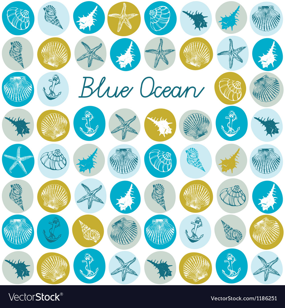 Sea fauna Seamless background vector image