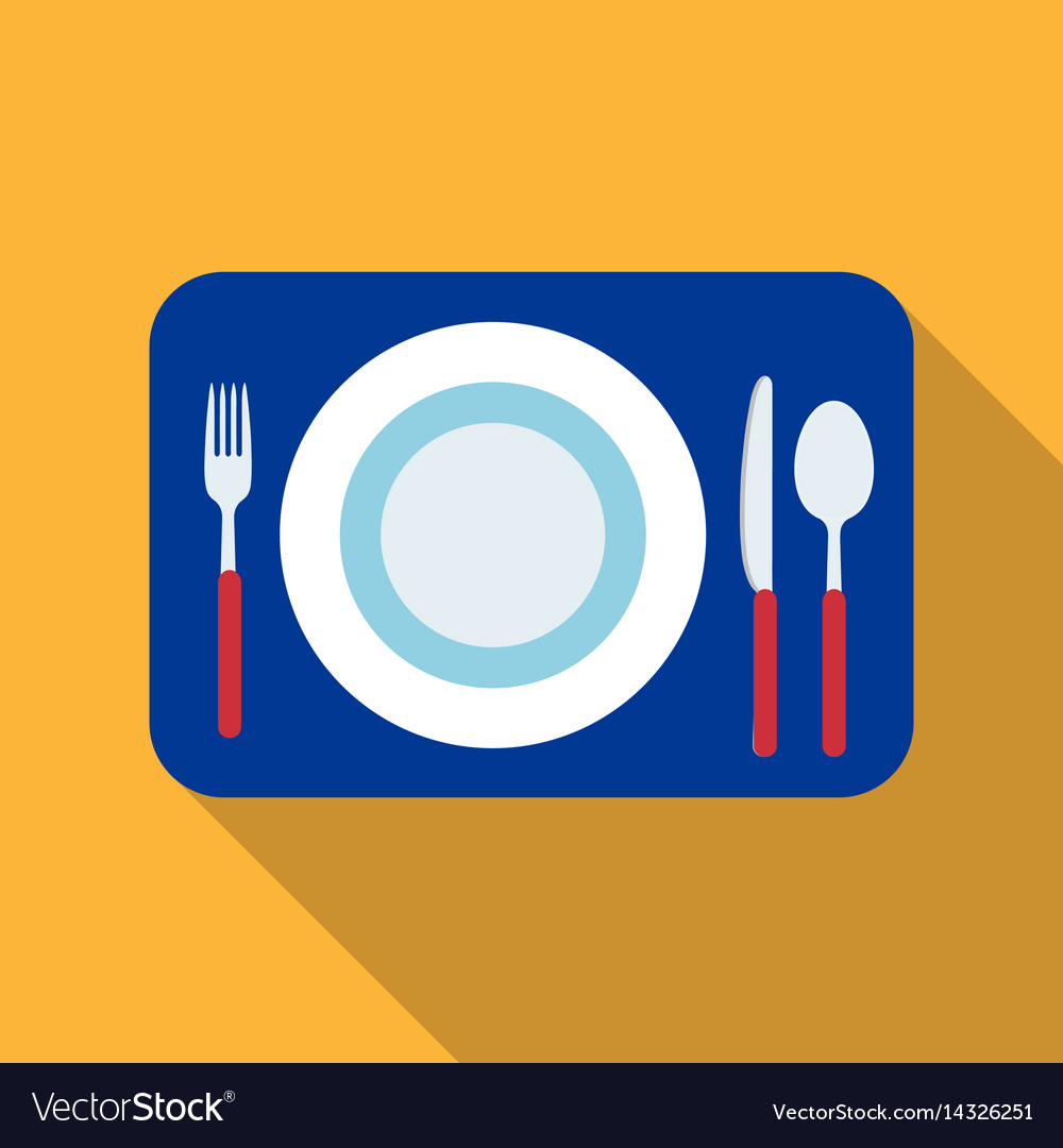 Served table icon in flat style isolated on white
