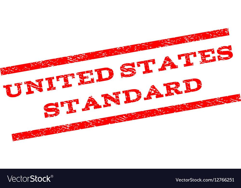 United States Standard Watermark Stamp vector image