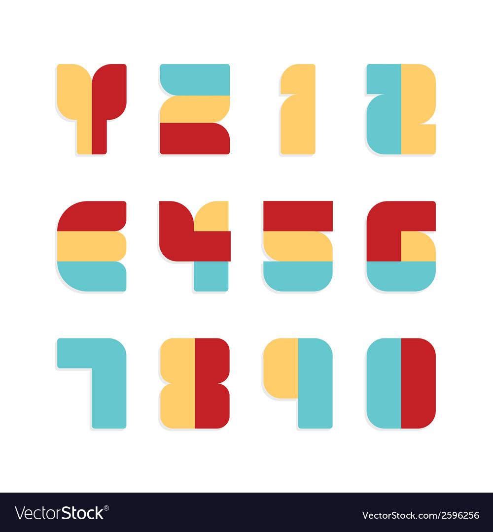 Alphabet set paper colour style