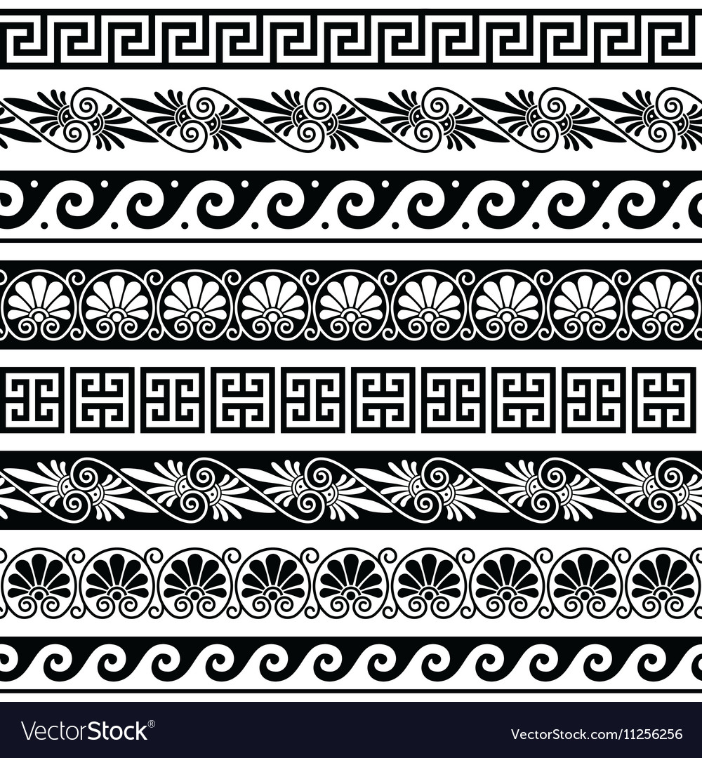 Ancient greek pattern seamless set royalty free vector ancient greek pattern seamless set vector image m4hsunfo