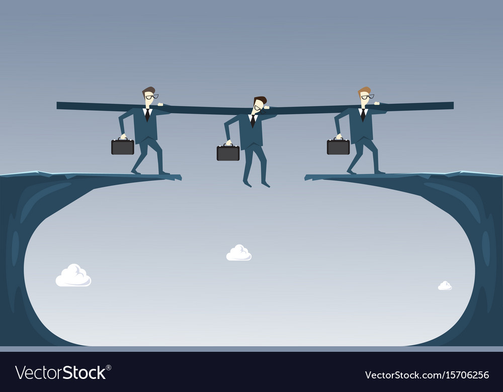 Business people group hold businessman hanging vector image