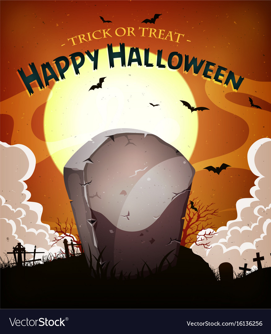 Halloween holidays background vector image
