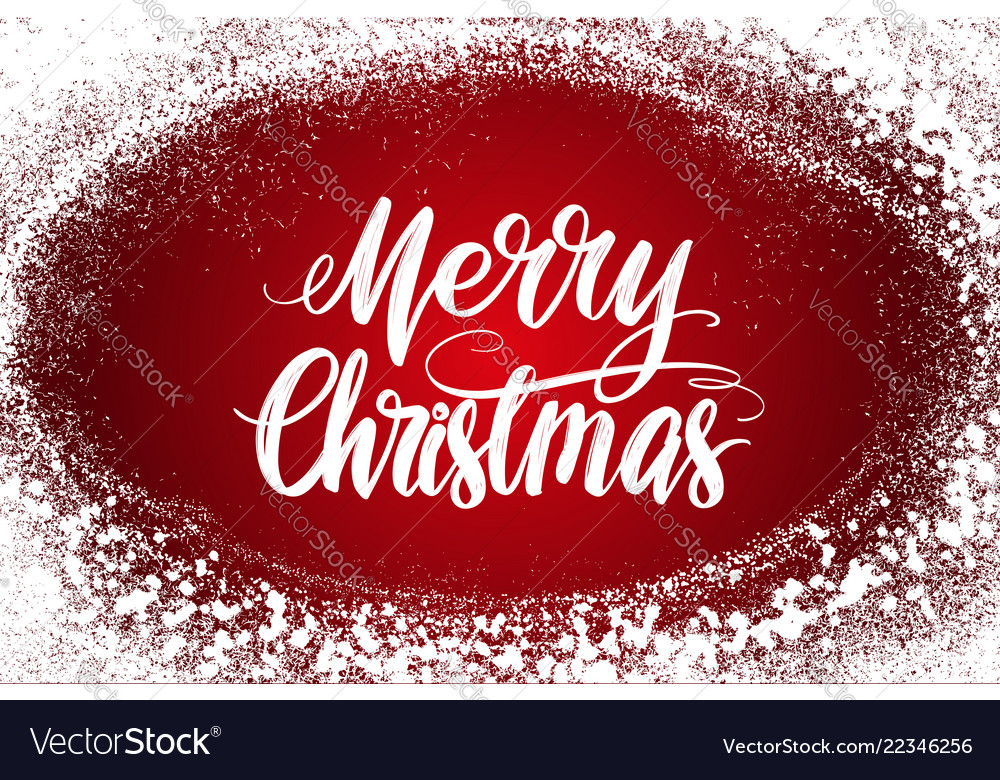 Merry christmas calligraphy lettering text symbol