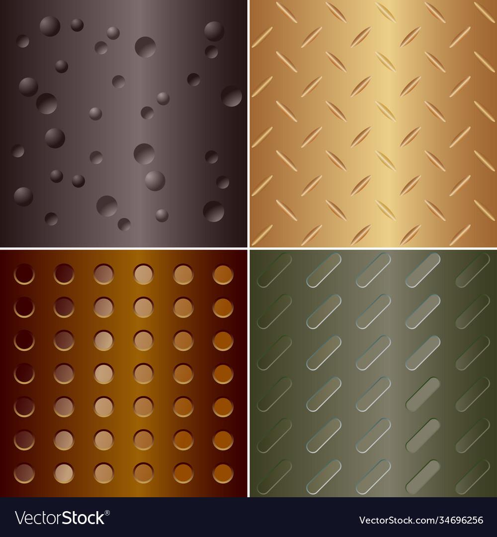 Metal pattern - set four