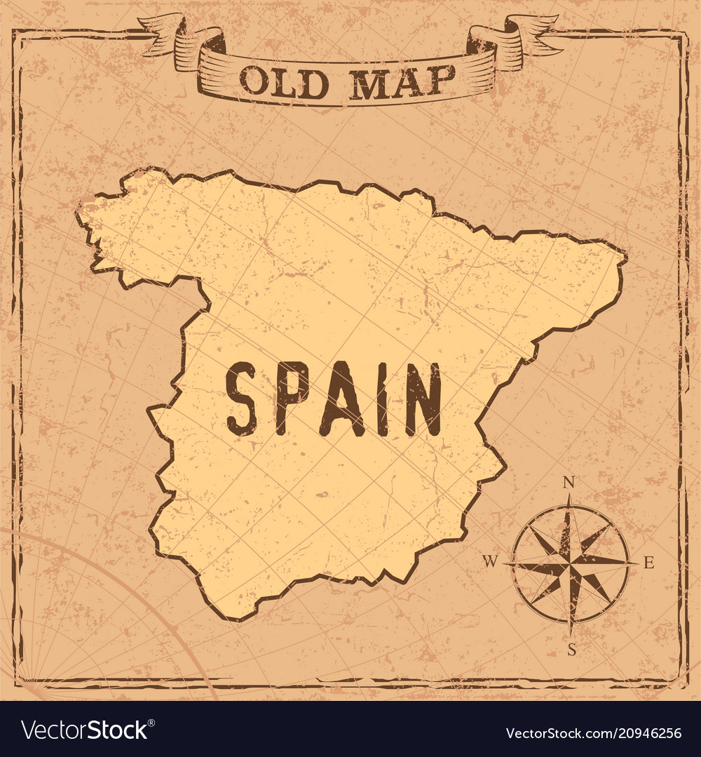 Map Of Spain Old.Old Style Spain Map