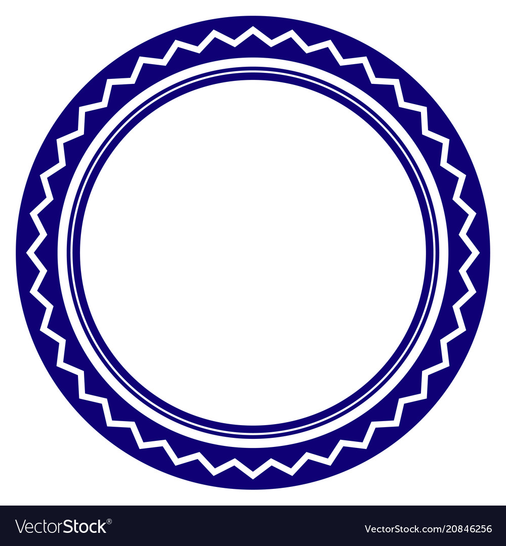 round rosette seal template royalty free vector image