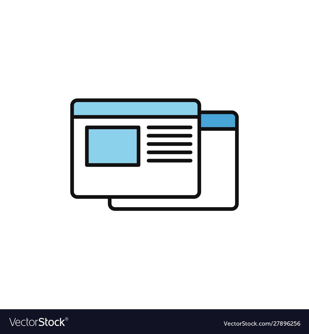 Website page internet flat line style