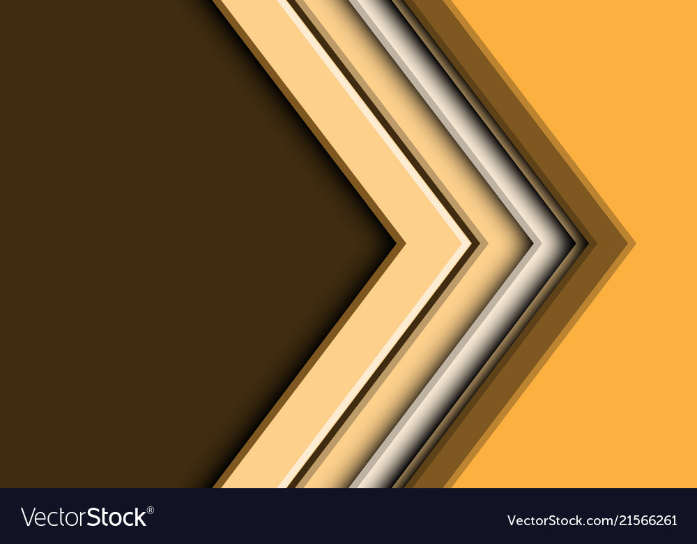 Abstract yellow tone arrow with blank space