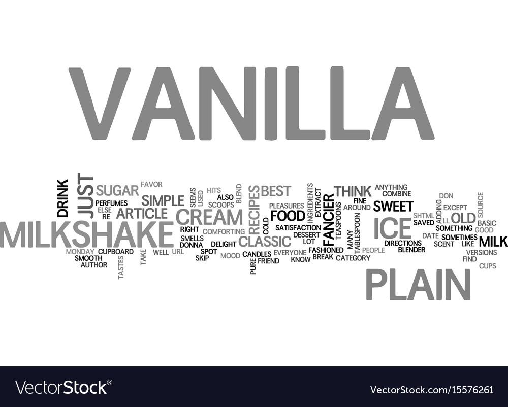 Best recipes classic vanilla milkshake text word vector image