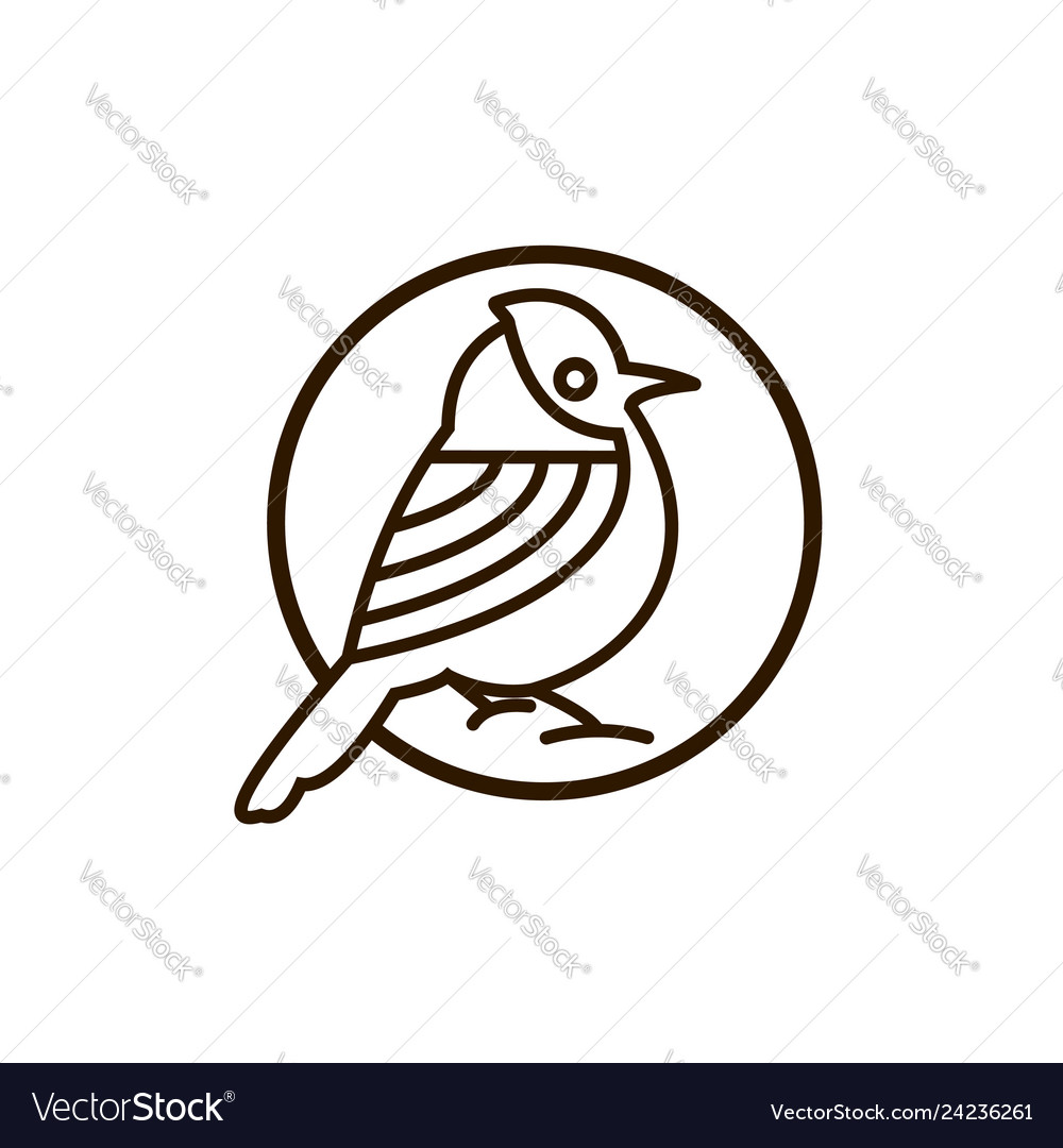 Bird mono line logo