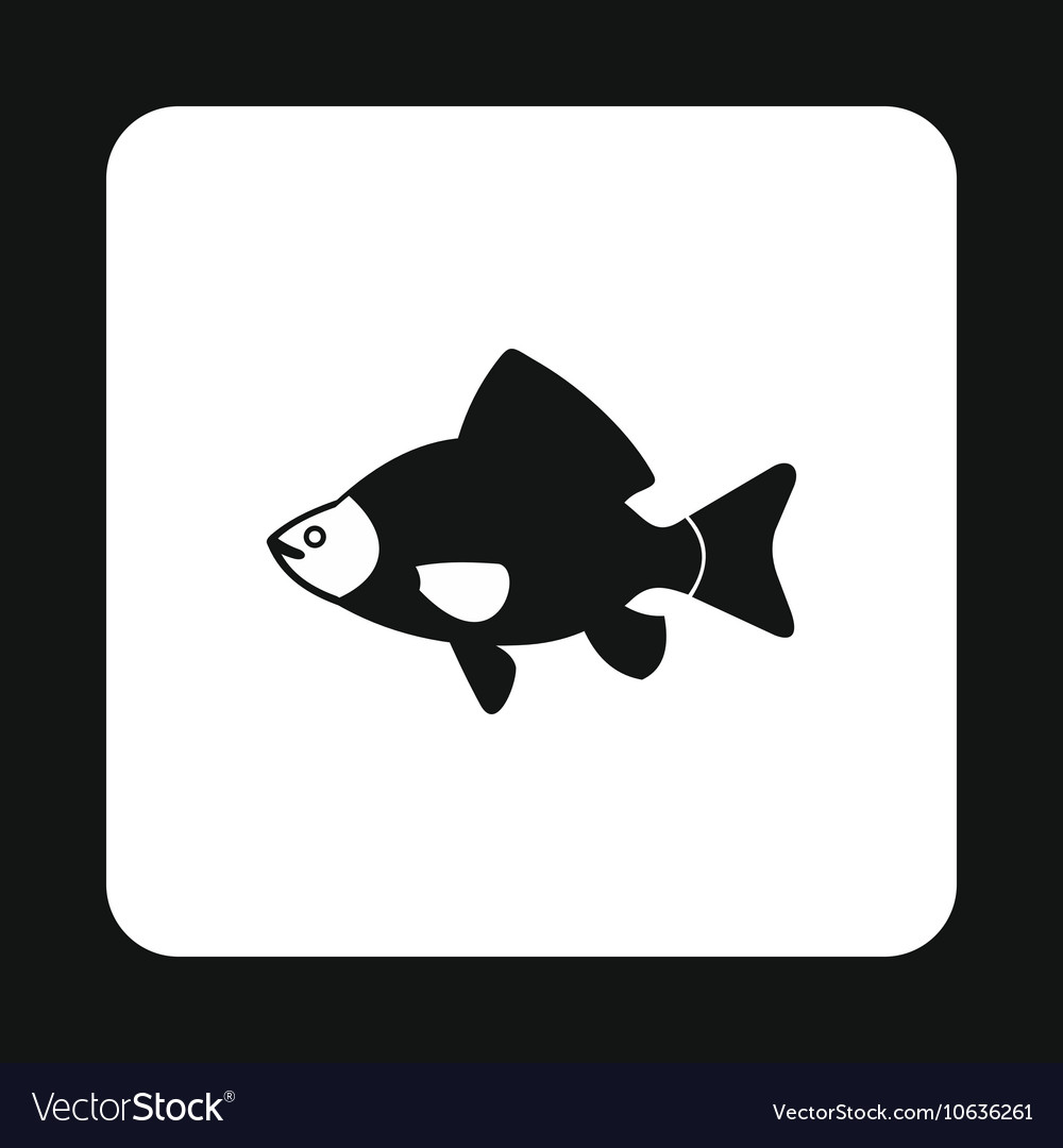 Black fish icon simple style vector image