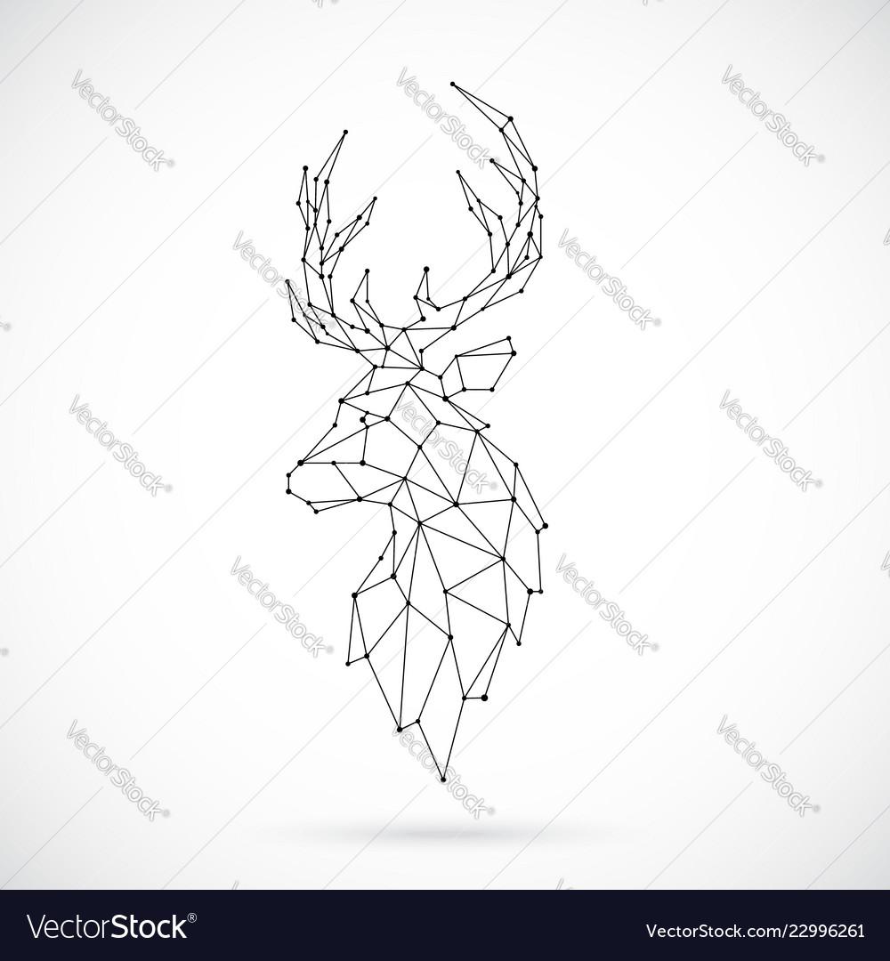 Geometric deer silhouette image of deer