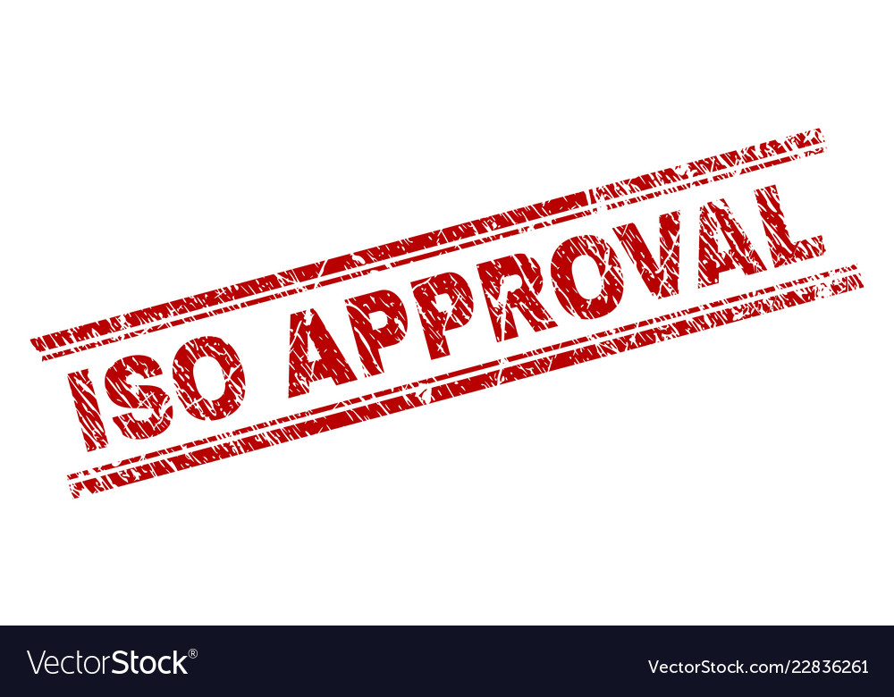 grunge textured iso approval stamp seal royalty free vector