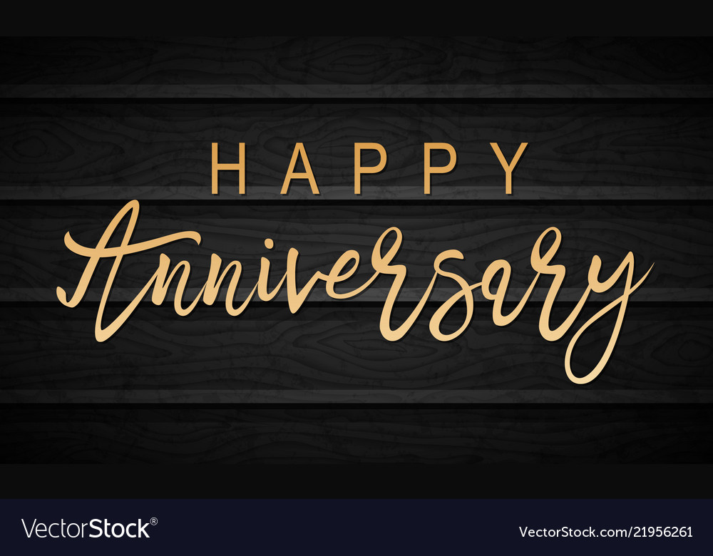 Happy anniversary lettering