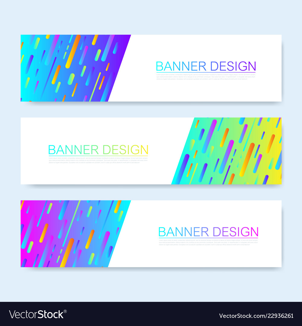 Modern abstract web banner template