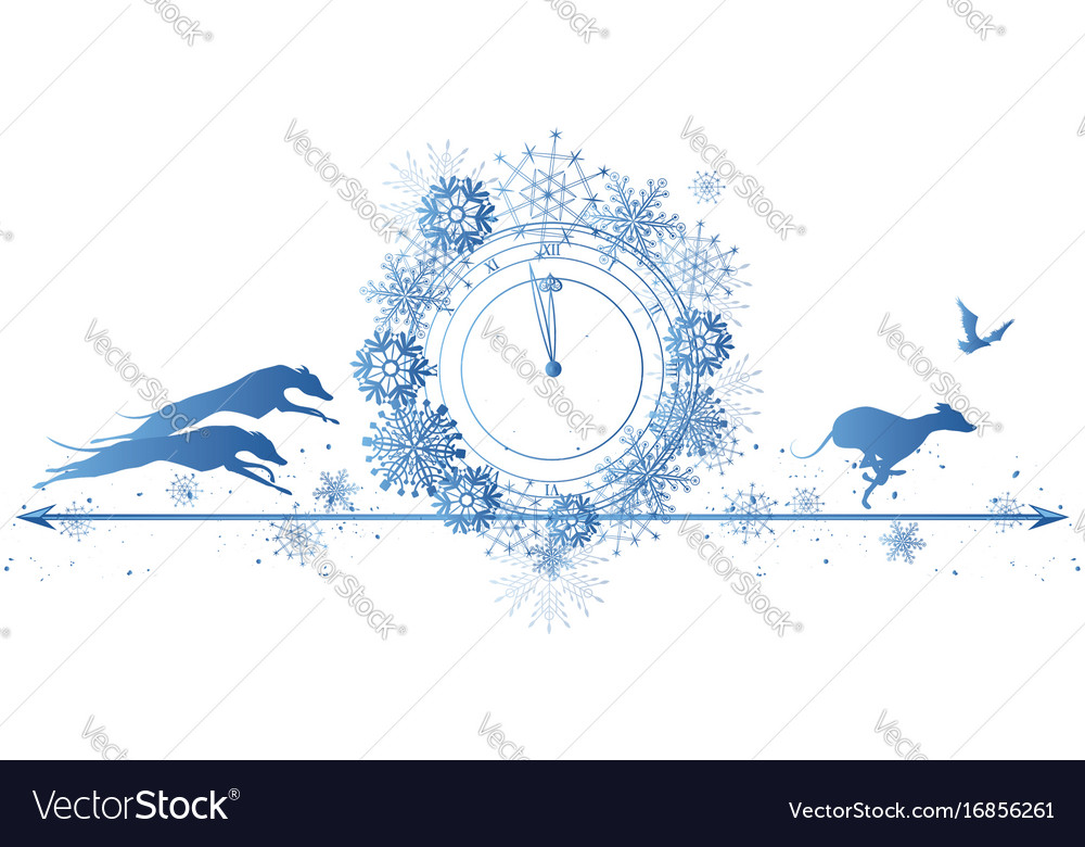 border dog christmas vector images 49