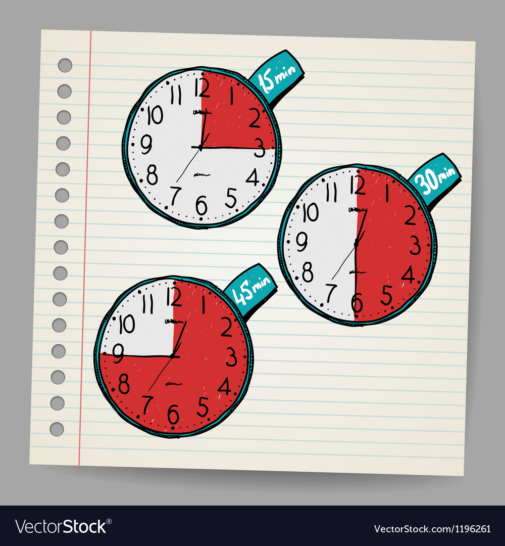 Red doodle timers